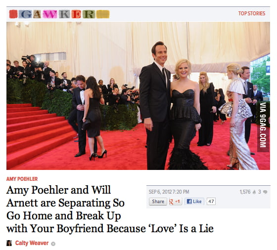 Amy Poehler and Will Arnett are separating...