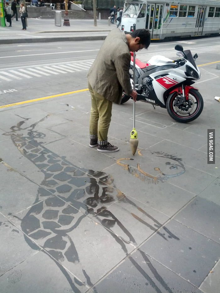 Awesome Water Painting Street Art