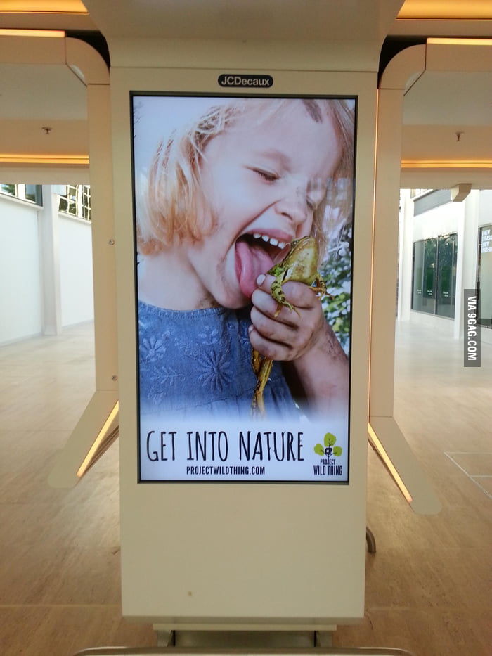 "If this is ""get into nature"", then I don't want to."