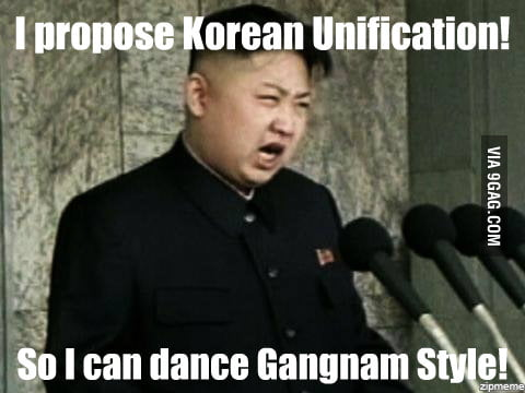 Kim Jong Un wants Korean Unification!