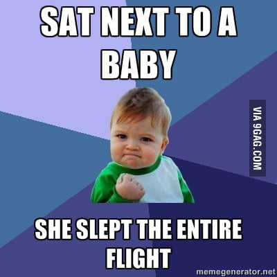 This happened to me when I was on an airplane