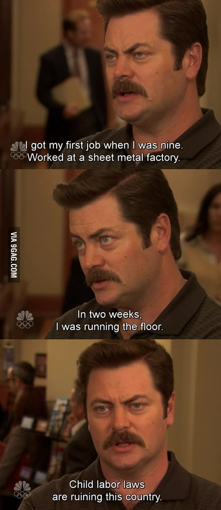 Ron Swanson reminiscing