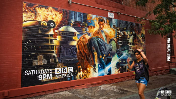Awesome mural for Doctor Who in Brooklyn, New York.