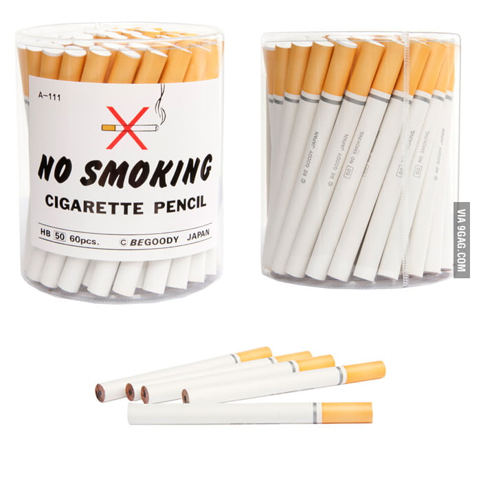 """No Smoking"" Cigarette Pencils"