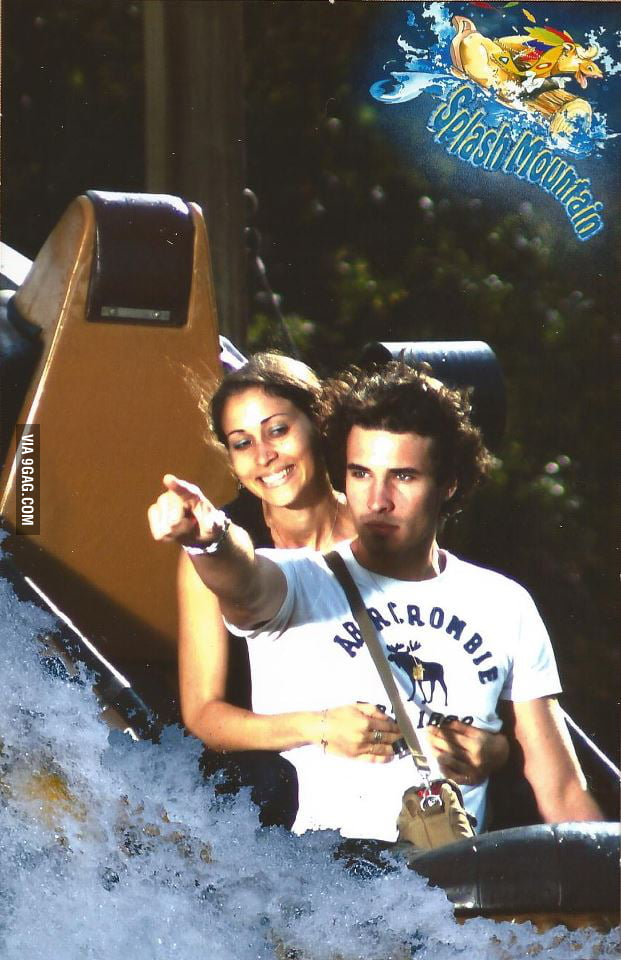 Ridiculous photogenic guy level: Splash Mountain