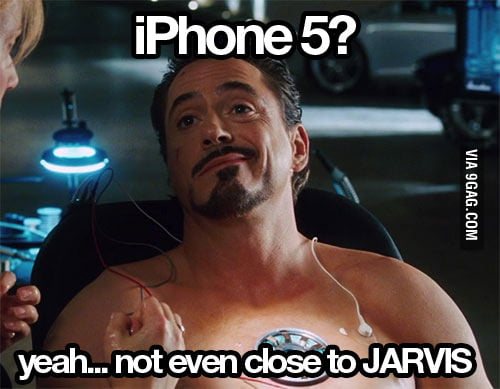 Tony Stark on iPhone 5