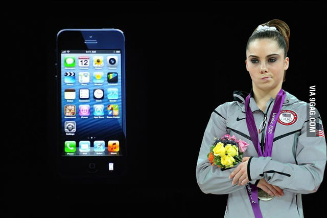McKayla unimpressed by the new iPhone5