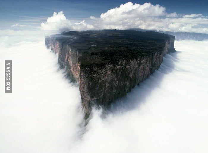 I can't believe this is real but it is. It's Mount Roraima.