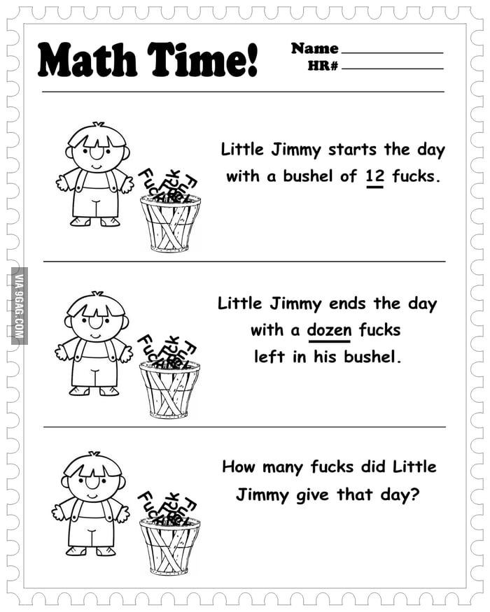 How many f**ks did Little Jimmy give that day?