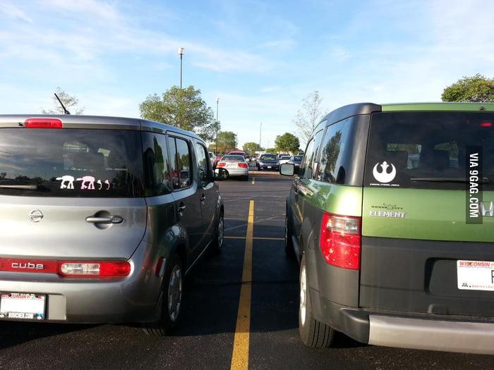 Star Wars at car park.
