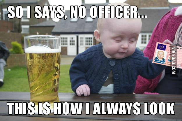 Drunk Baby gets pulled over
