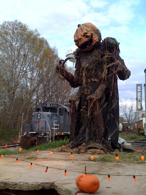 Awesome pumpkin sculpture