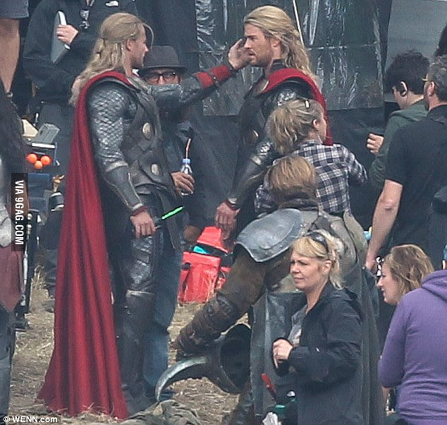 """Thor, you're so handsome."" ""Thank you, Thor."""