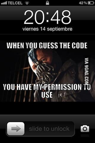Guess the code, Batman