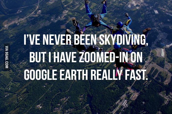 Skydiving? Close enough.