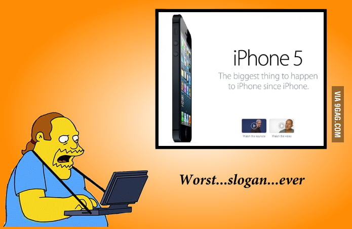 Comic Book Guy on the iPhone 5