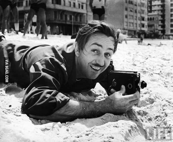 Walt Disney and his 8mm camera, 1941.