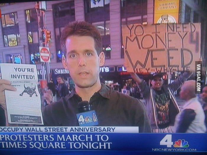 He's an honest protester.