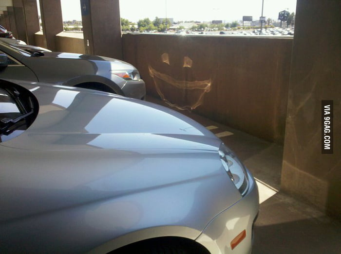 Joker face by sunlight reflection