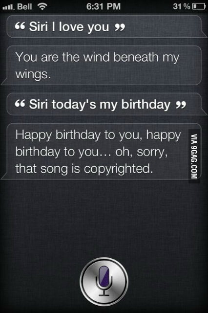 Wow Siri, really?