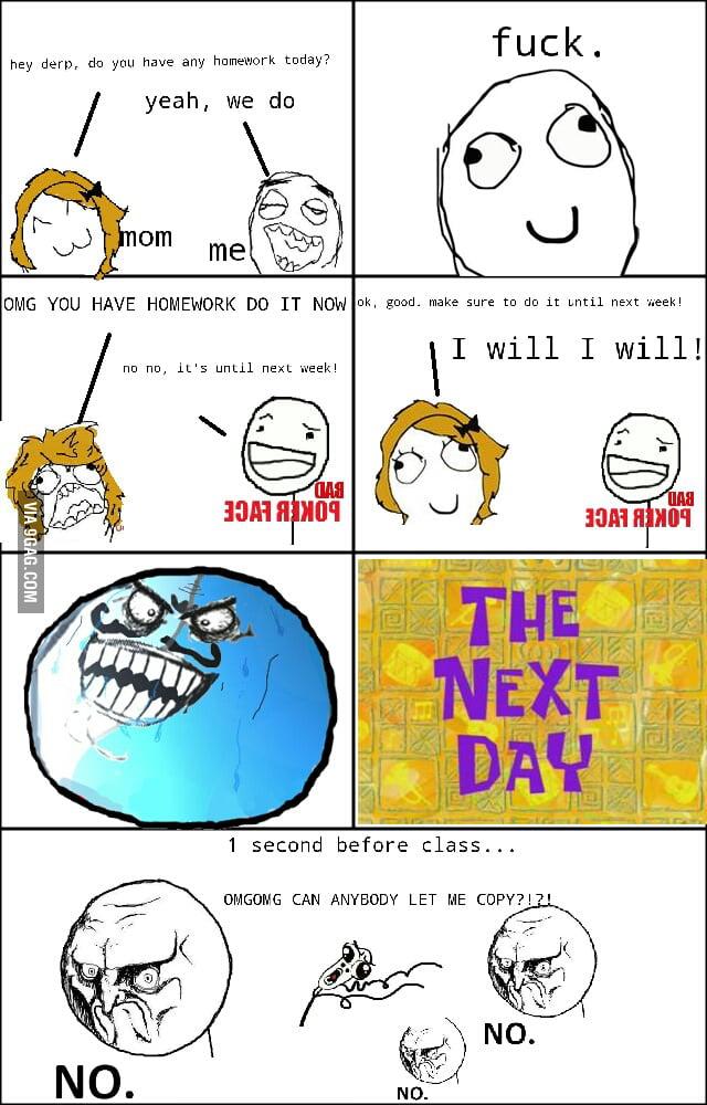 Homework rage