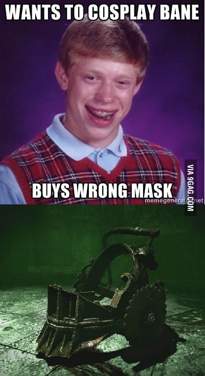 Bad Luck Brian cosplays Bane