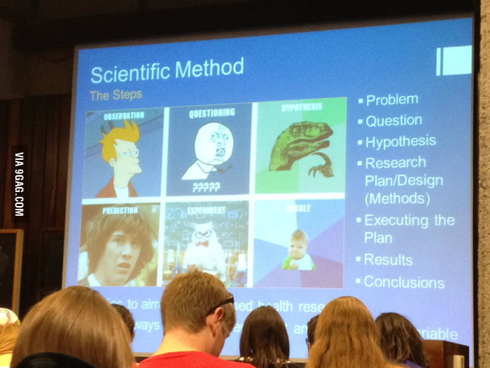 "How my professor teaches ""Scientific Method"" in my college"
