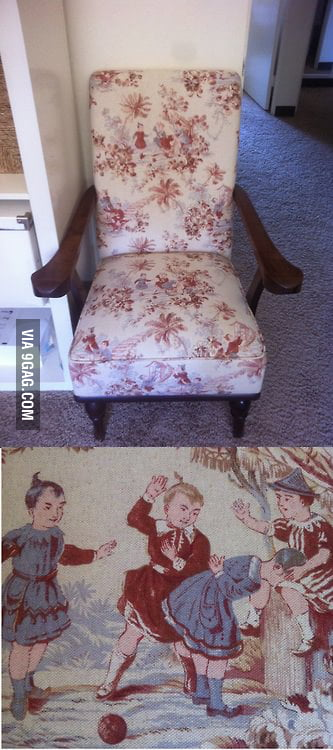 Looking at a chair at home... wait