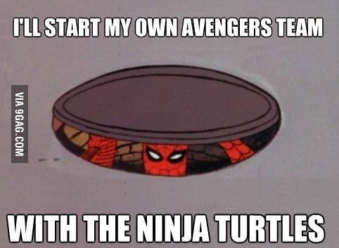 Spiderman starts his own Avengers team