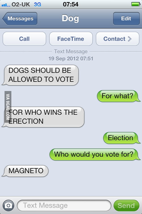 Dogs should be allowed to vote