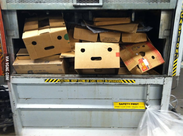 Feel so terrible crushing boxes at work