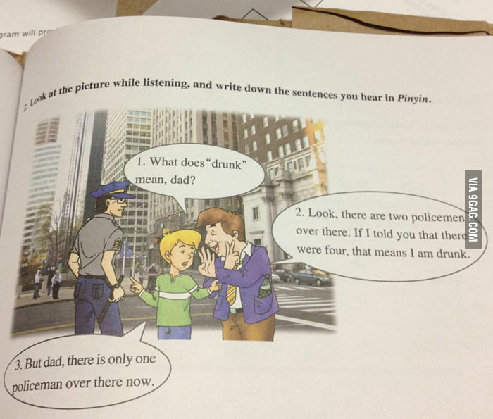A 6th grader's Mandarin textbook.