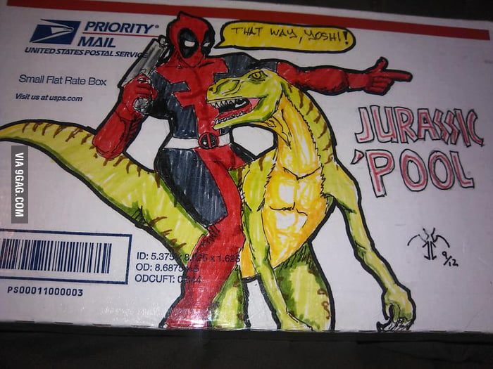 I requested to have a dinosaur drawing on the package.