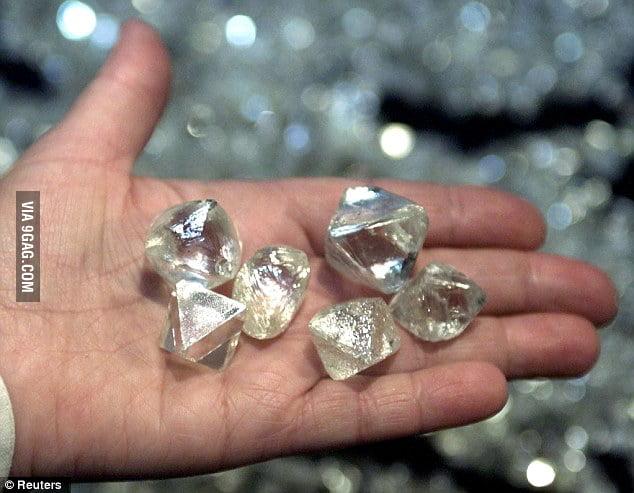 Some diamonds found in Popigai crater