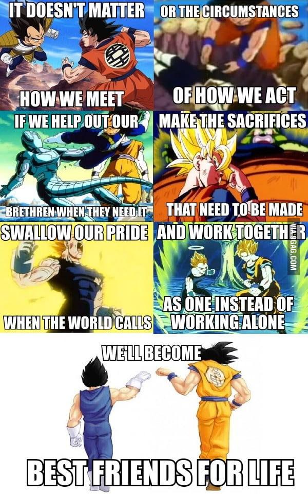 Dragon Ball Z on friendship