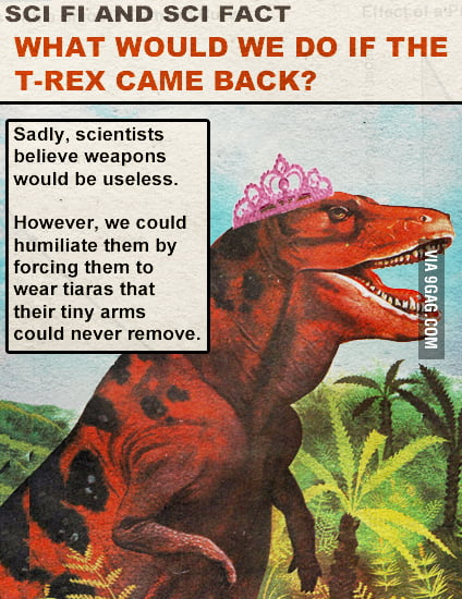 We would we do if the T-Rex came back?