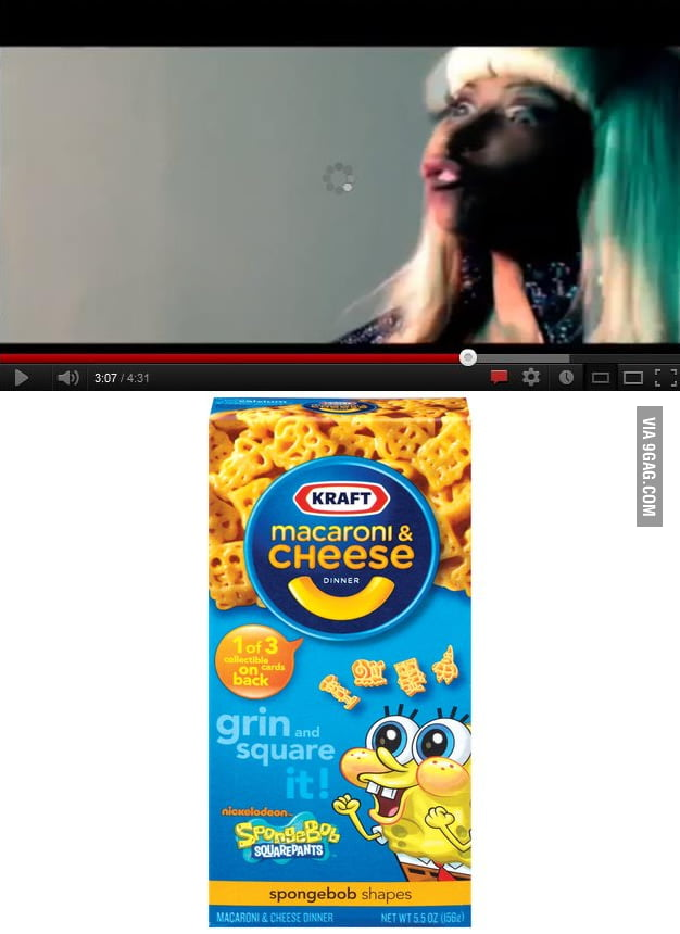 Nicki Minaj on Mac & Cheese box