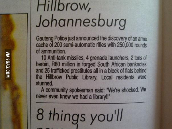 Johannesburg people are shocked.