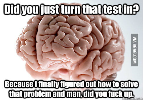 Scumbag Brain goes to school