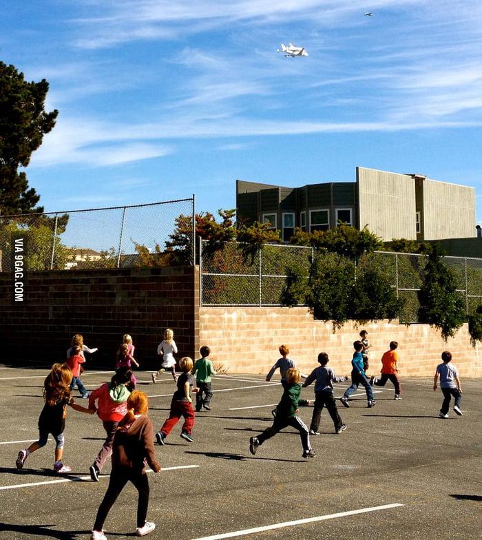 Is it a bird? Is it a plane? It's a shuttle.