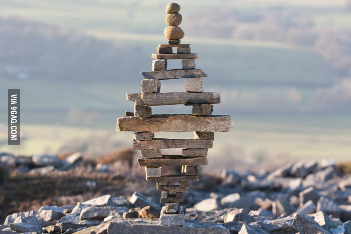 Balancing rocks like a boss.