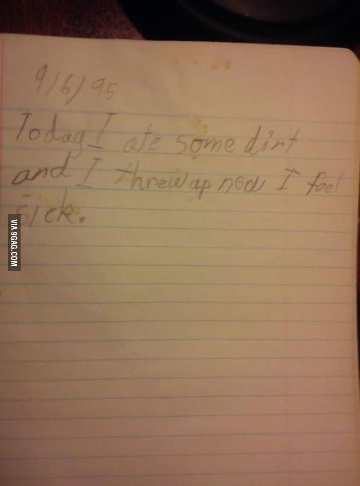 My brother's old diary.
