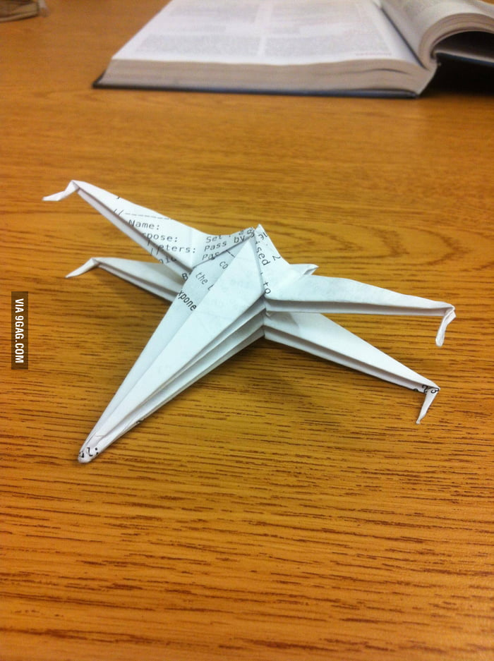 Made this with calculus worksheet. I present the f(x)-wing!