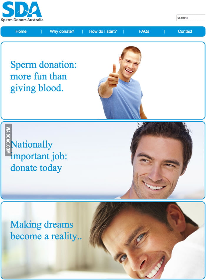 Sperm donation: more fun than giving blood.