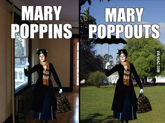 Mary pops everywhere