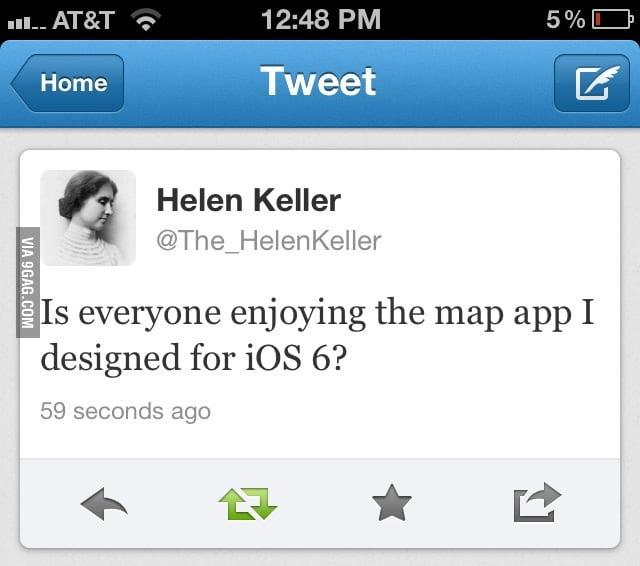 Helen Keller and iOS 6