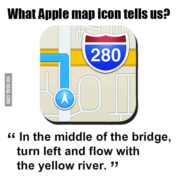 What Apple map tells us