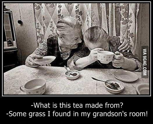 Weed tea for grandma's
