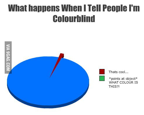What happens when I tell people I'm colourblind