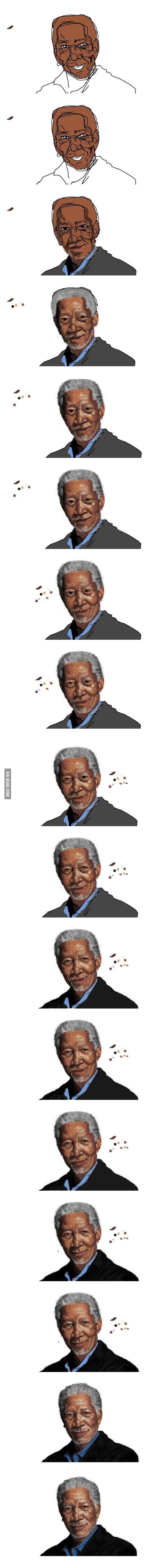 Morgan Freeman In MS Paint